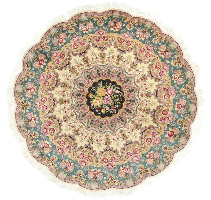 6' 6 x 6' 6 Tabriz Persian Round Rug