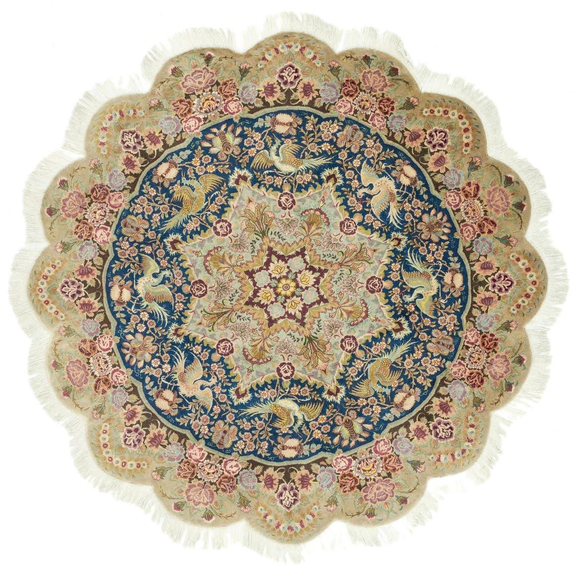 6' 6 x 6' 6 Tabriz Persian Round Rug main image
