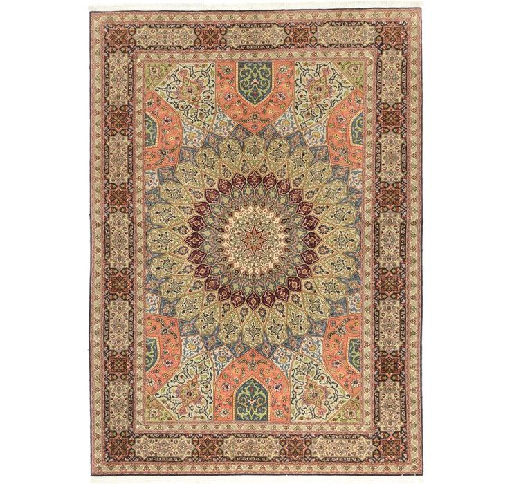 5' 7 x 8' Tabriz Persian Rug