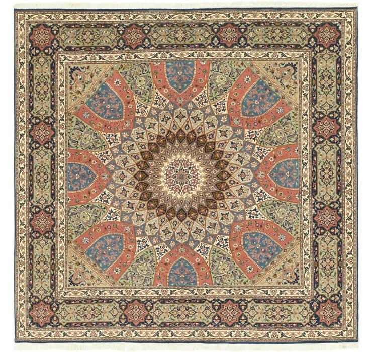 250cm x 257cm Tabriz Persian Square Rug