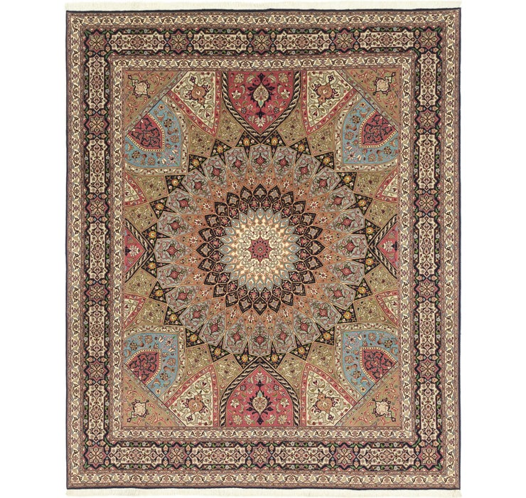 8' 3 x 10' Tabriz Persian Rug