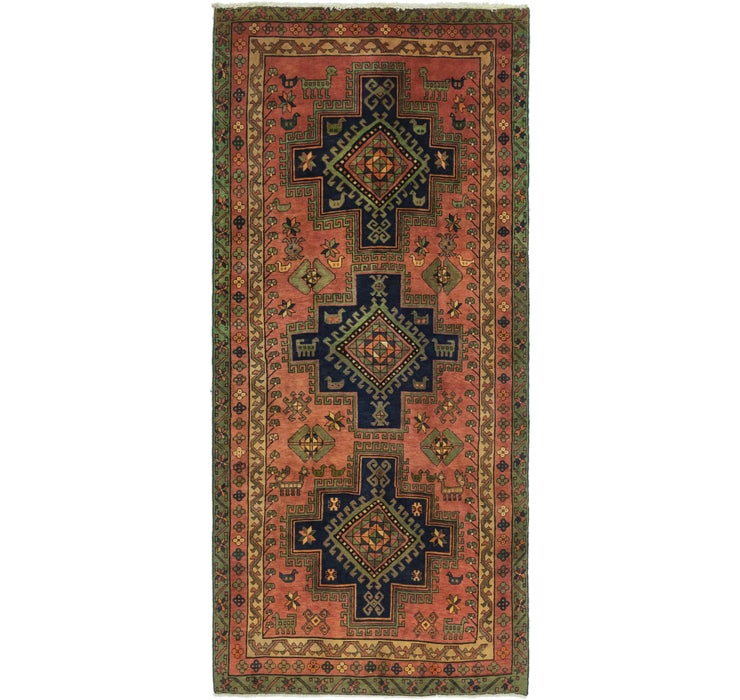 5' x 11' 2 Gholtogh Persian Runner...