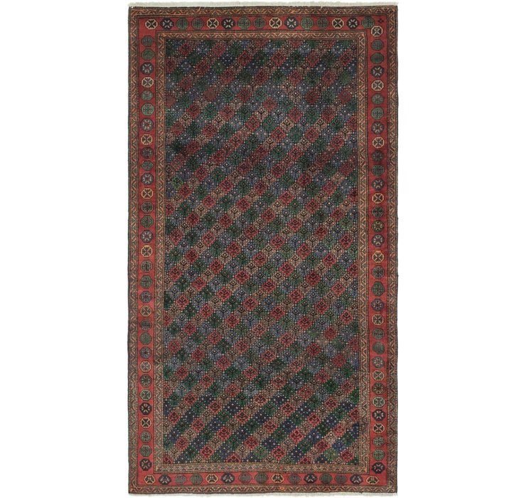 5' 4 x 10' Shiraz Persian Rug