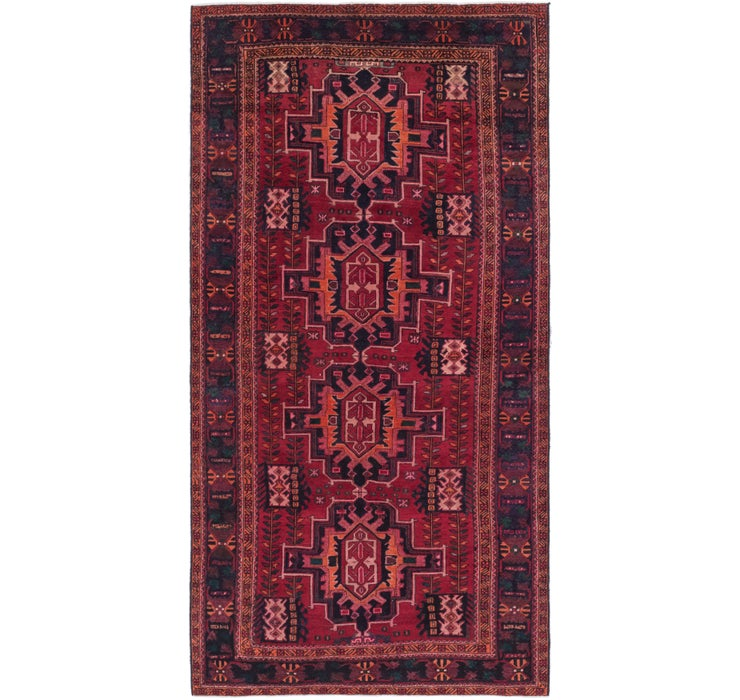 157cm x 312cm Shiraz Persian Runner Rug