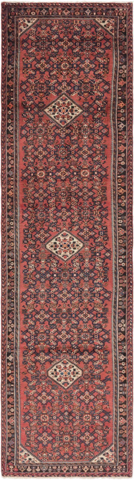 3' 7 x 13' 9 Hossainabad Persian Runner Rug main image
