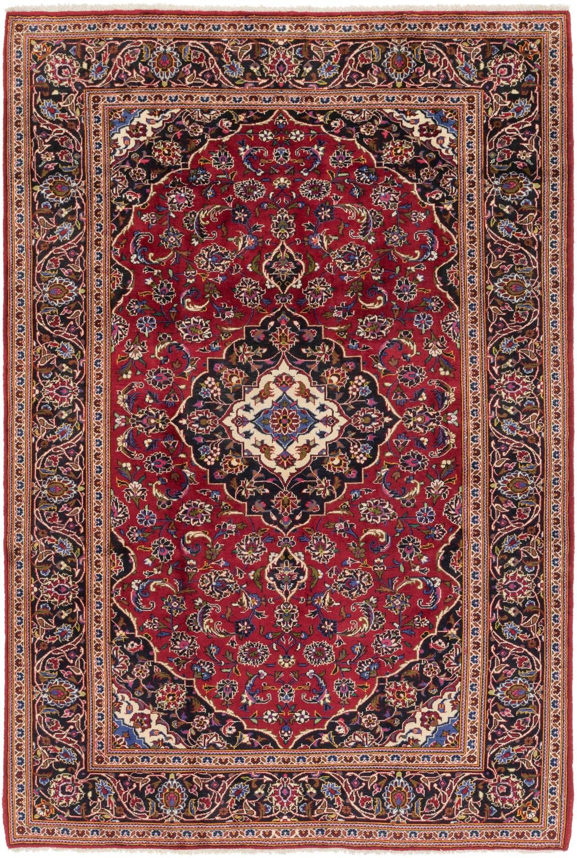 6' 9 x 10' Kashan Persian Rug main image