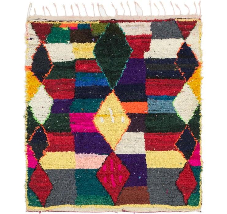 4' 7 x 5' 2 Moroccan Square Rug