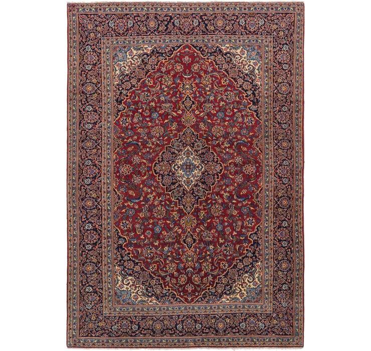 9' x 13' 3 Kashan Persian Rug