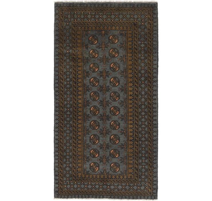105cm x 195cm Afghan Akhche Runner Rug