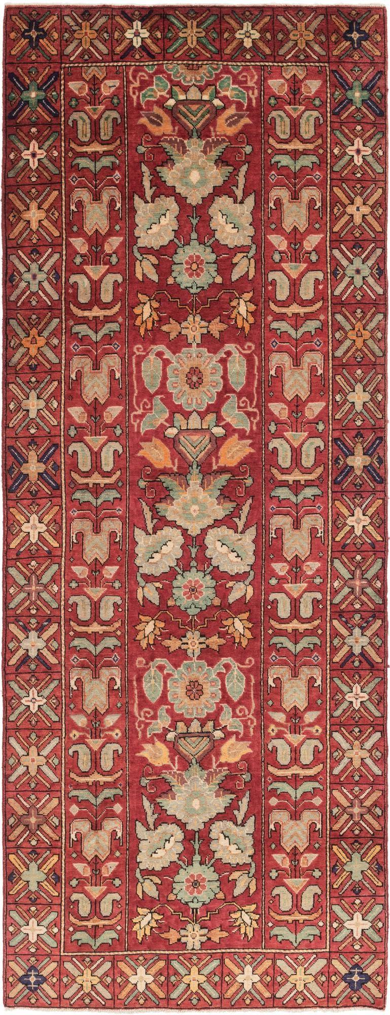5' x 13' 4 Meshkabad Persian Runner Rug main image