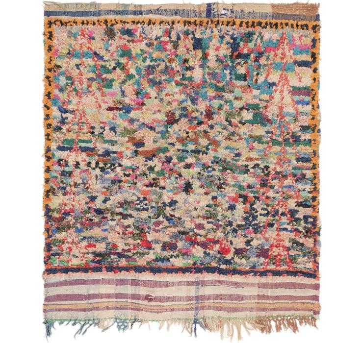 5' 2 x 5' 8 Moroccan Square Rug