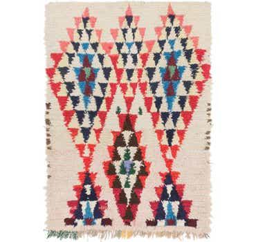 Image of 3' 10 x 5' 6 Moroccan Rug
