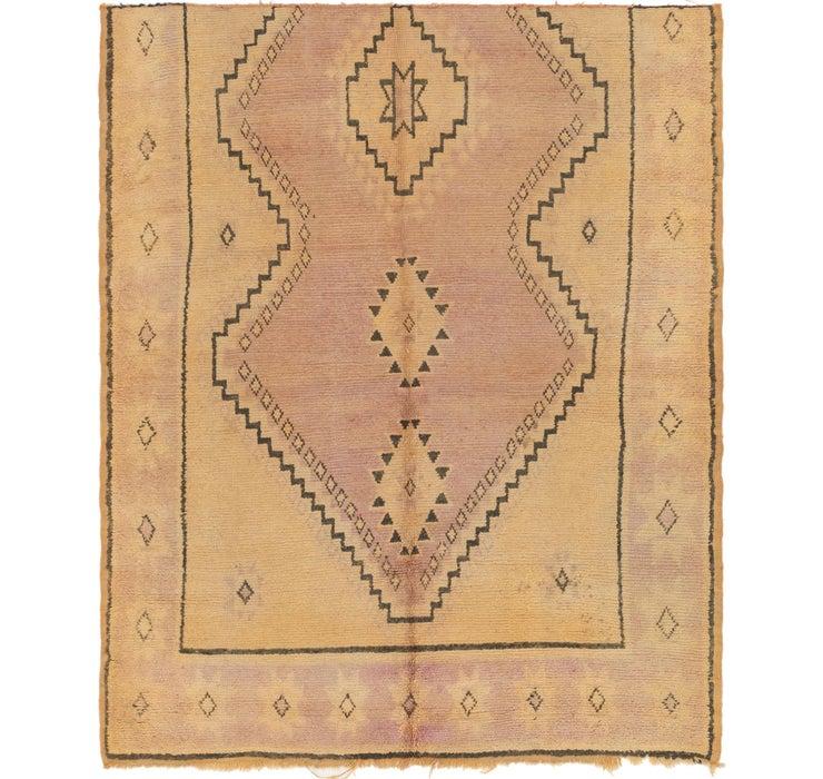 6' x 7' 3 Moroccan Square Rug