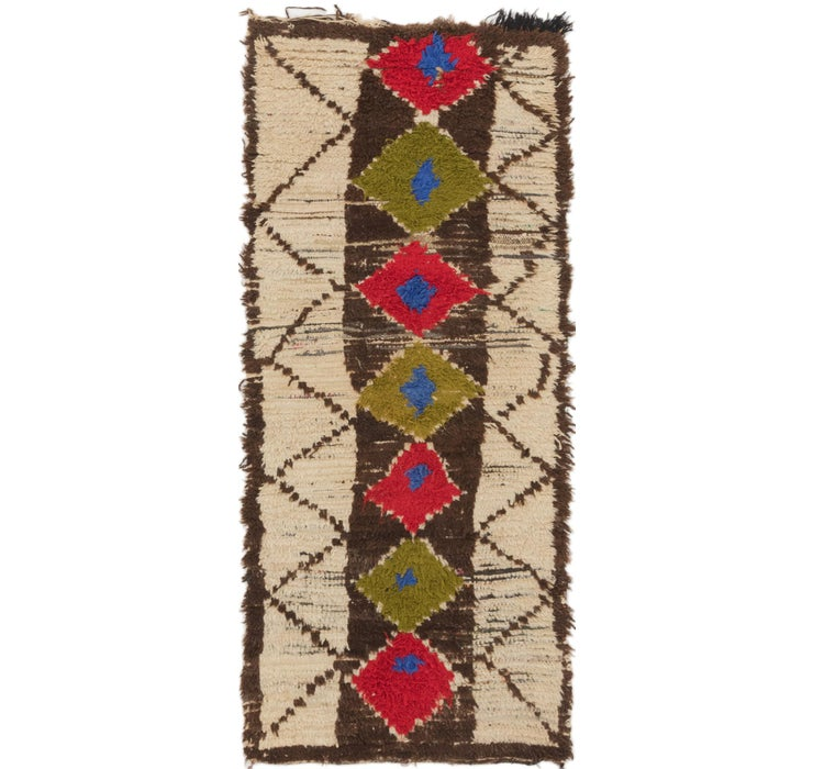 3' x 6' 8 Moroccan Runner Rug