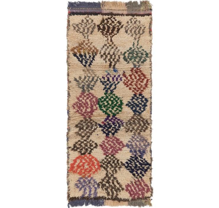 3' x 6' 9 Moroccan Runner Rug