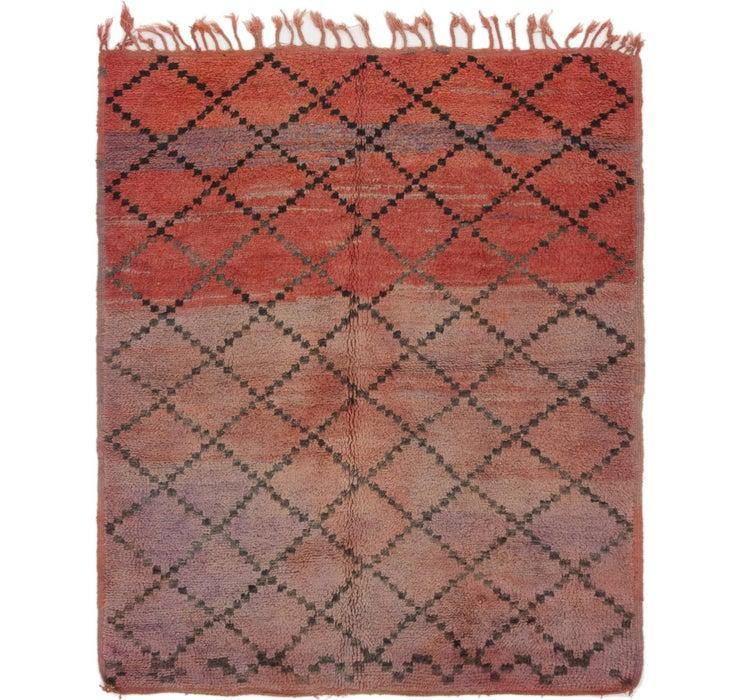 5' 10 x 6' 10 Moroccan Square Rug