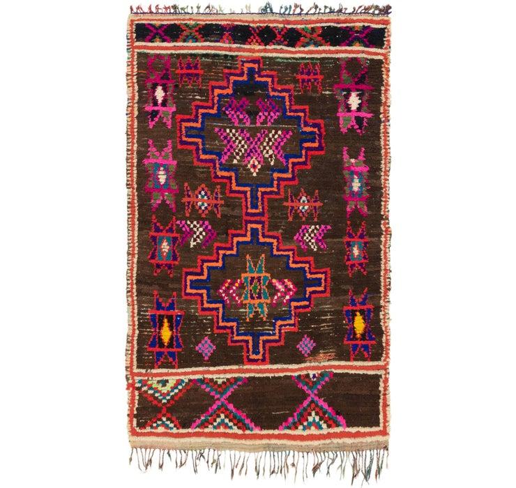 Image of 4' 10 x 8' Moroccan Rug