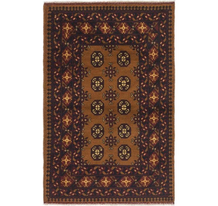102cm x 157cm Afghan Akhche Rug