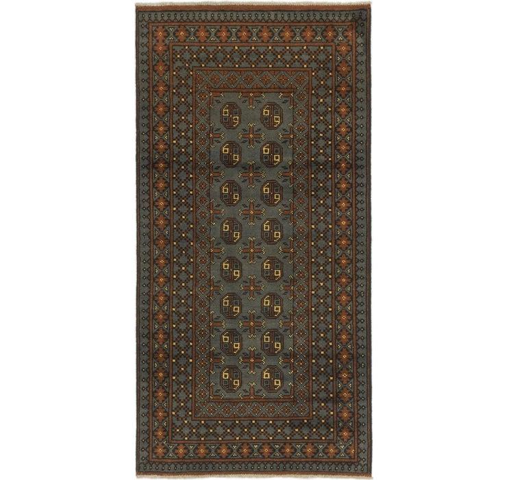 3' 4 x 6' 6 Afghan Akhche Runner Rug