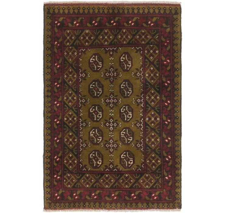 80cm x 122cm Afghan Akhche Rug