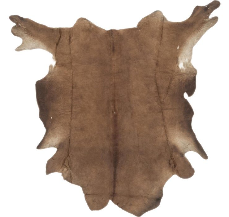 Image of 178cm x 183cm Cowhide Square Rug