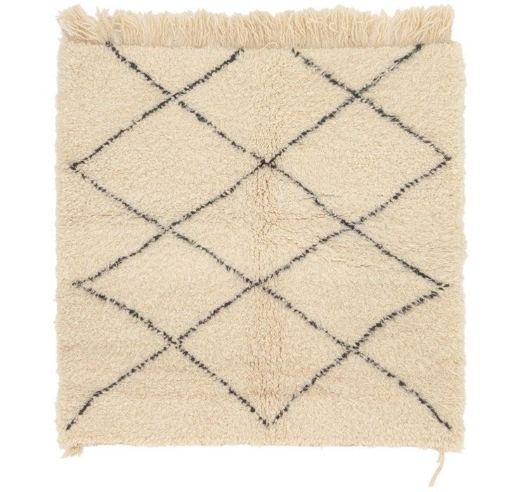 3' 7 x 3' 8 Moroccan Square Rug