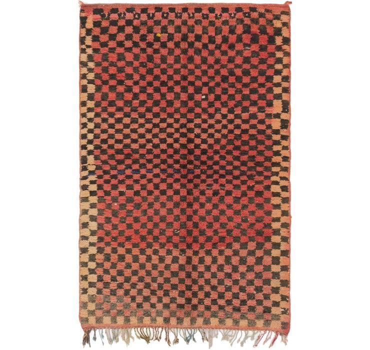 4' 2 x 6' 6 Moroccan Rug