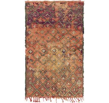 Image of  4' 3 x 7' Moroccan Rug