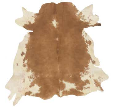 Image of 5' 7 x 6' 2 Cowhide Square Rug