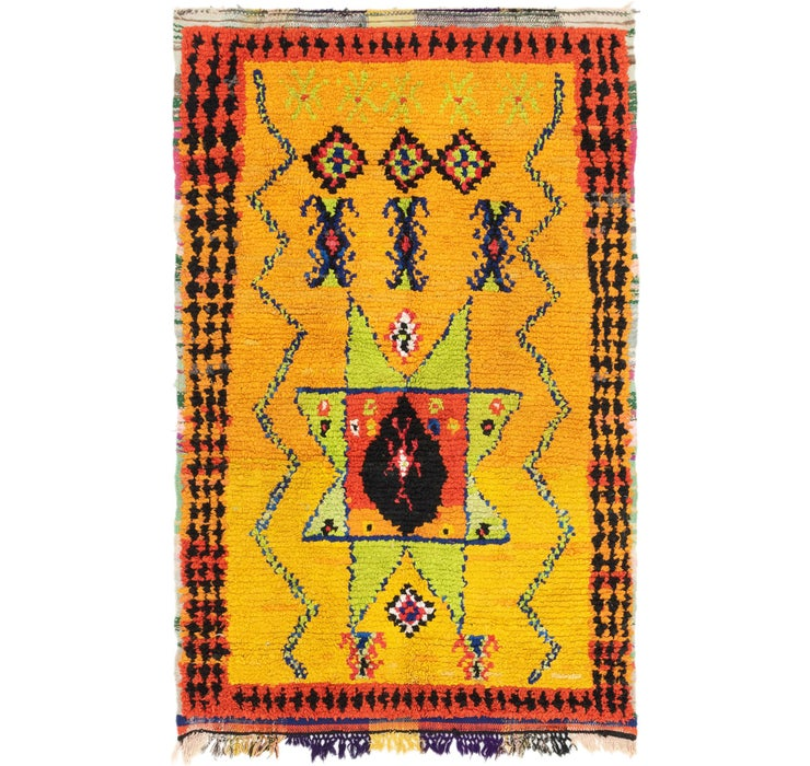 Image of  4' 7 x 7' Moroccan Rug