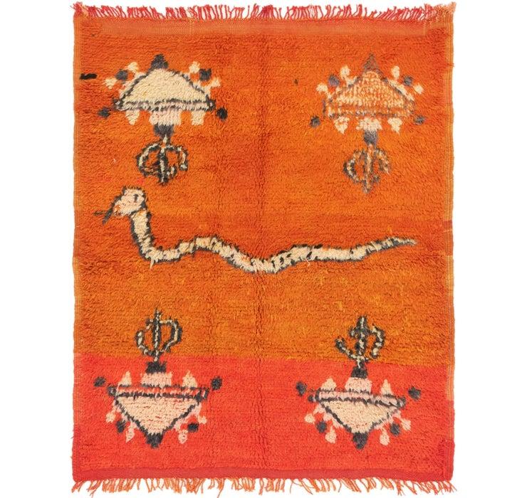 4' 4 x 5' 4 Moroccan Square Rug