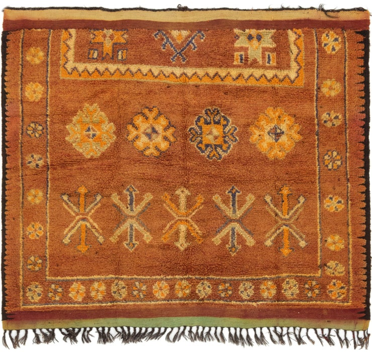 5' 5 x 6' 3 Moroccan Square Rug