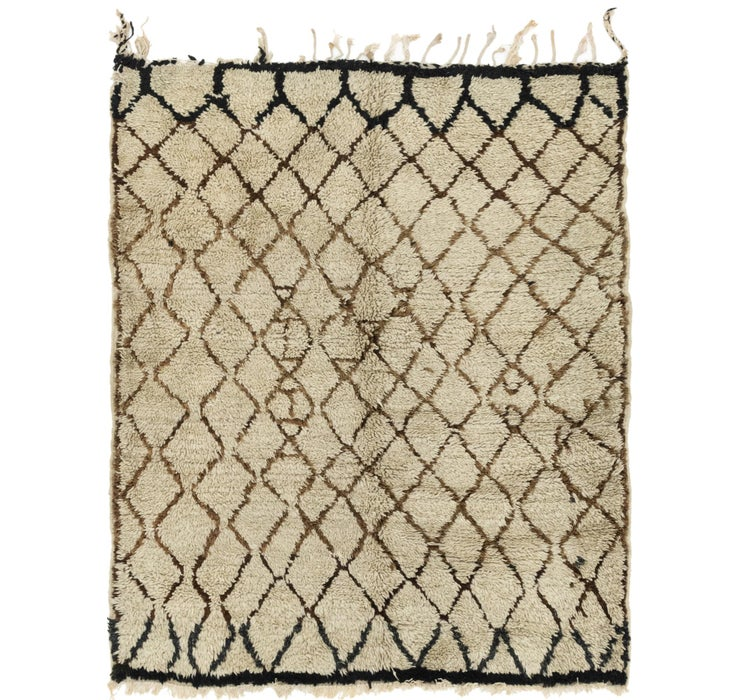 5' 7 x 6' 7 Moroccan Square Rug