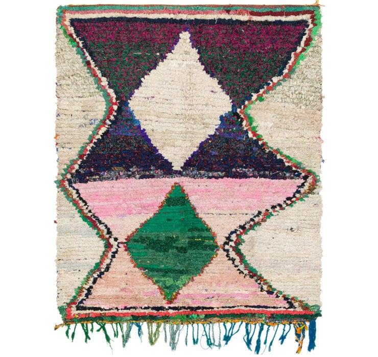 5' x 6' 2 Moroccan Square Rug
