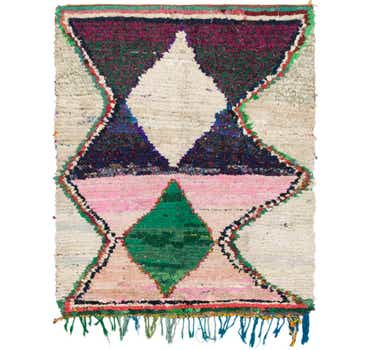 Image of 5' x 6' 2 Moroccan Square Rug