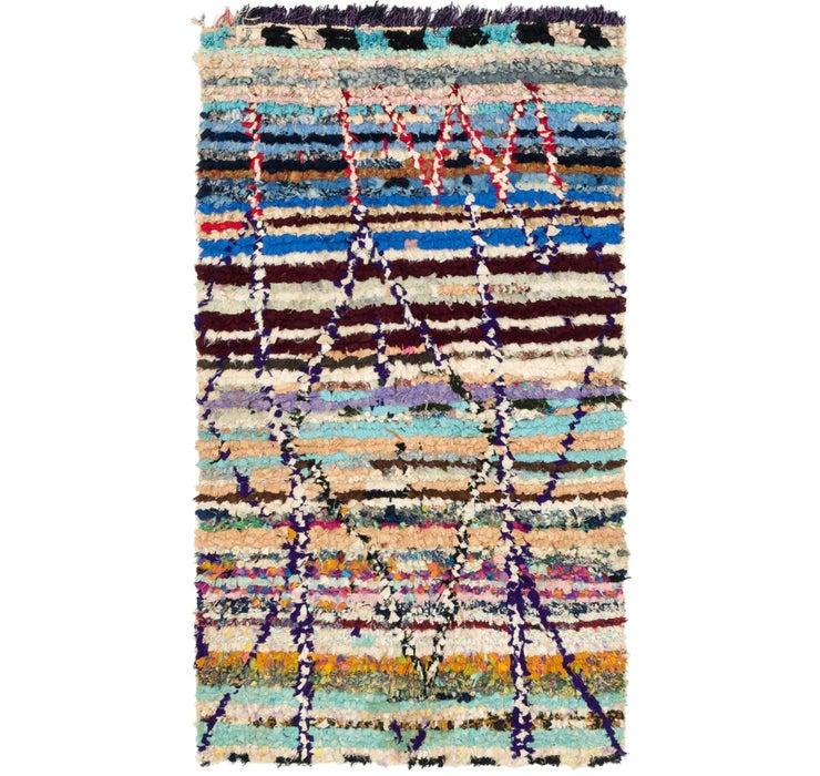 4' 2 x 7' 8 Moroccan Runner Rug
