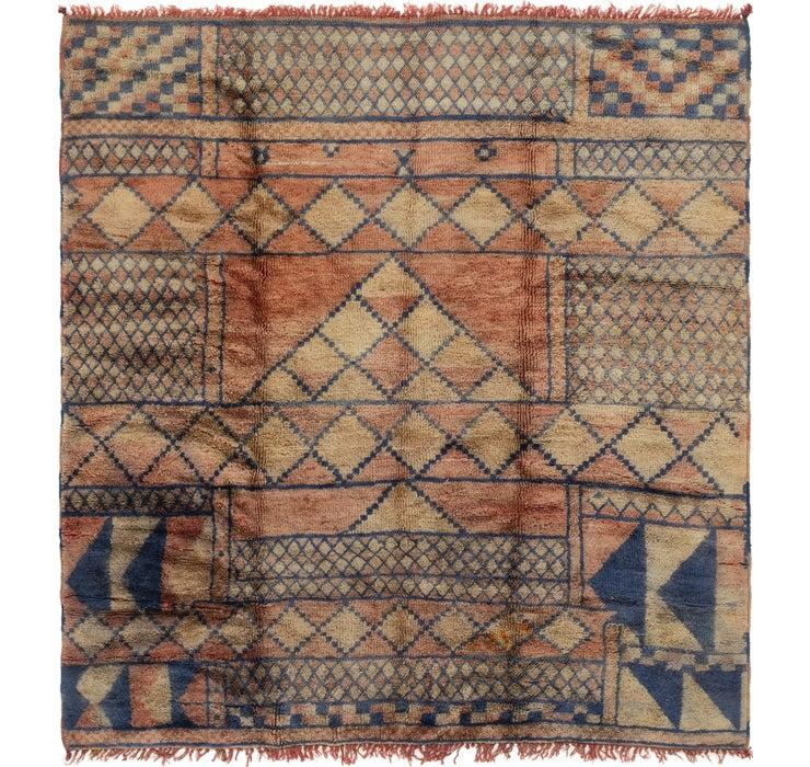 7' x 7' 5 Moroccan Square Rug
