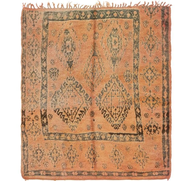 5' 4 x 6' Moroccan Square Rug