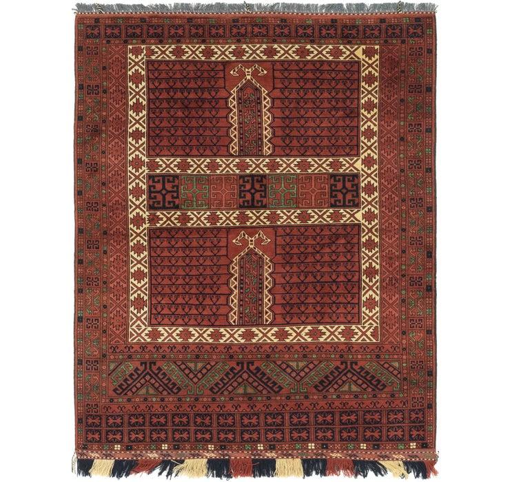 152cm x 198cm Afghan Akhche Rug