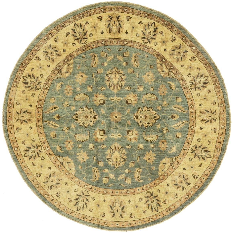 6' 6 x 6' 6 Peshawar Ziegler Round Rug main image