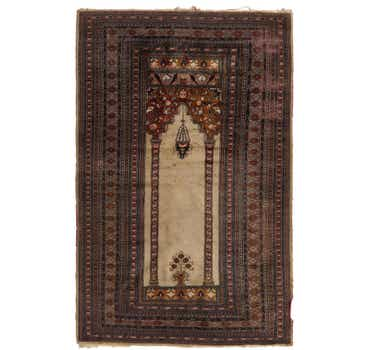 4' 3 x 6' 4 Lahour Oriental Rug
