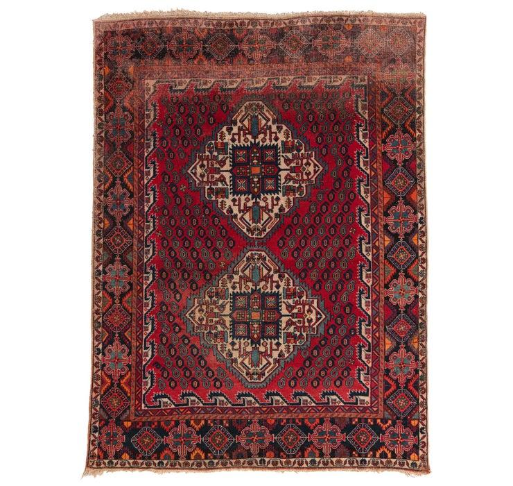 5' x 6' 7 Hamedan Persian Rug