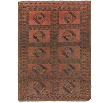 Image of 5' x 6' 10 Afghan Akhche Rug