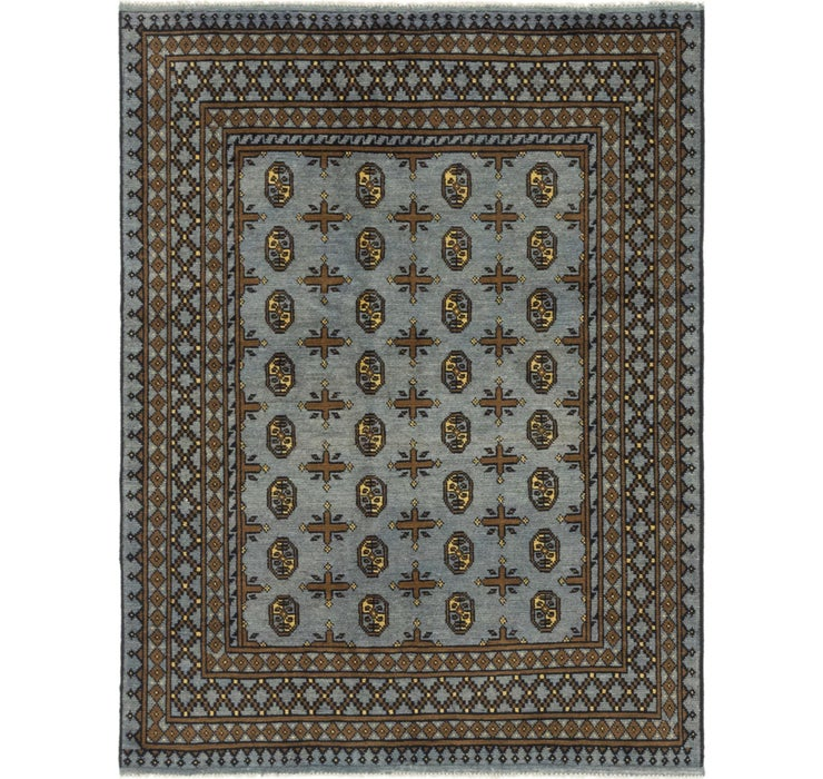 5' x 6' 6 Afghan Akhche Square Rug
