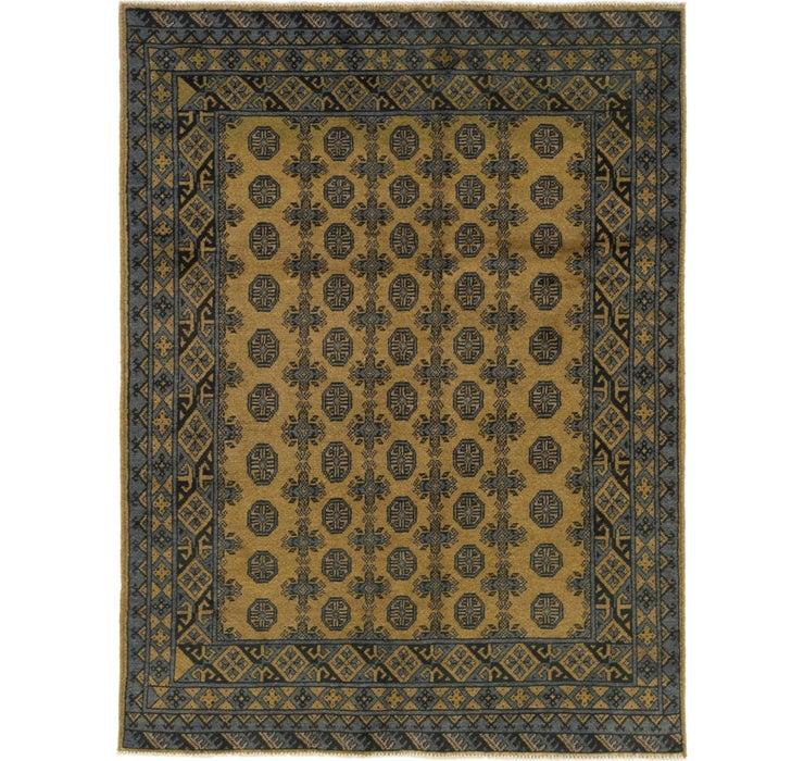 152cm x 198cm Afghan Akhche Square Rug