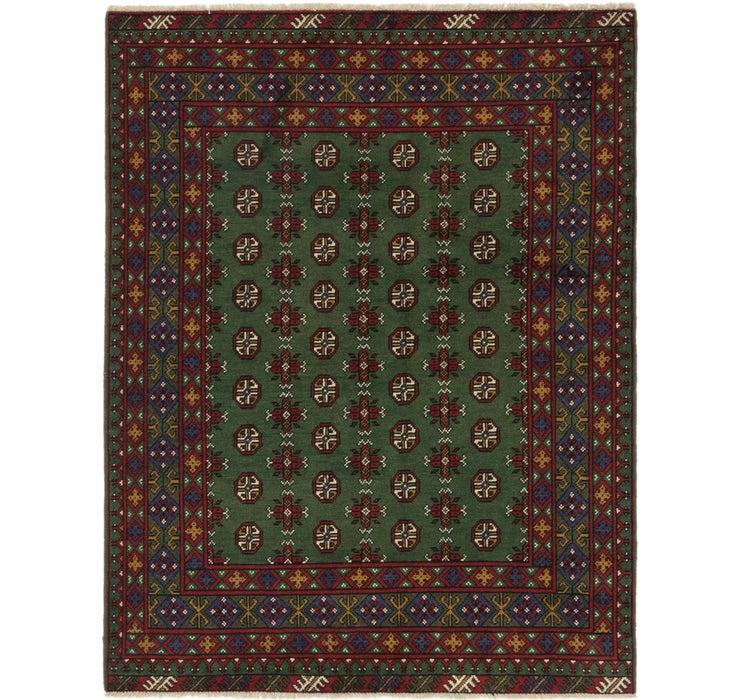 157cm x 200cm Afghan Akhche Square Rug