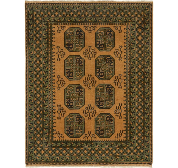 5' x 6' 5 Afghan Akhche Square Rug