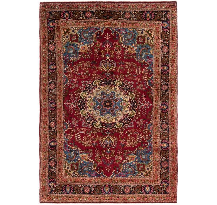 6' 4 x 9' 8 Mashad Persian Rug
