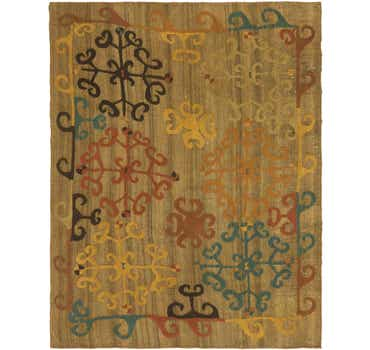 Image of  7' 3 x 9' Kilim Suzani Rug