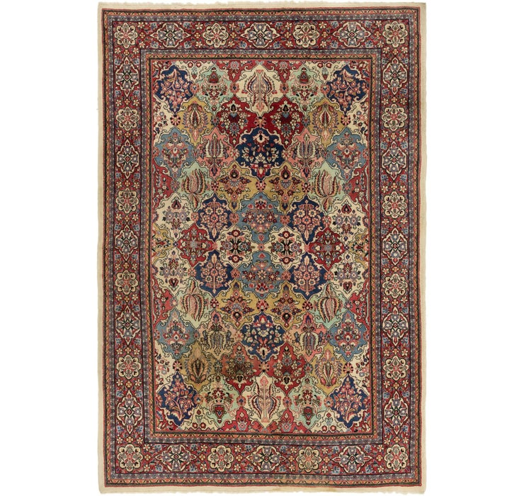 7' 3 x 10' 6 Sarough Persian Rug